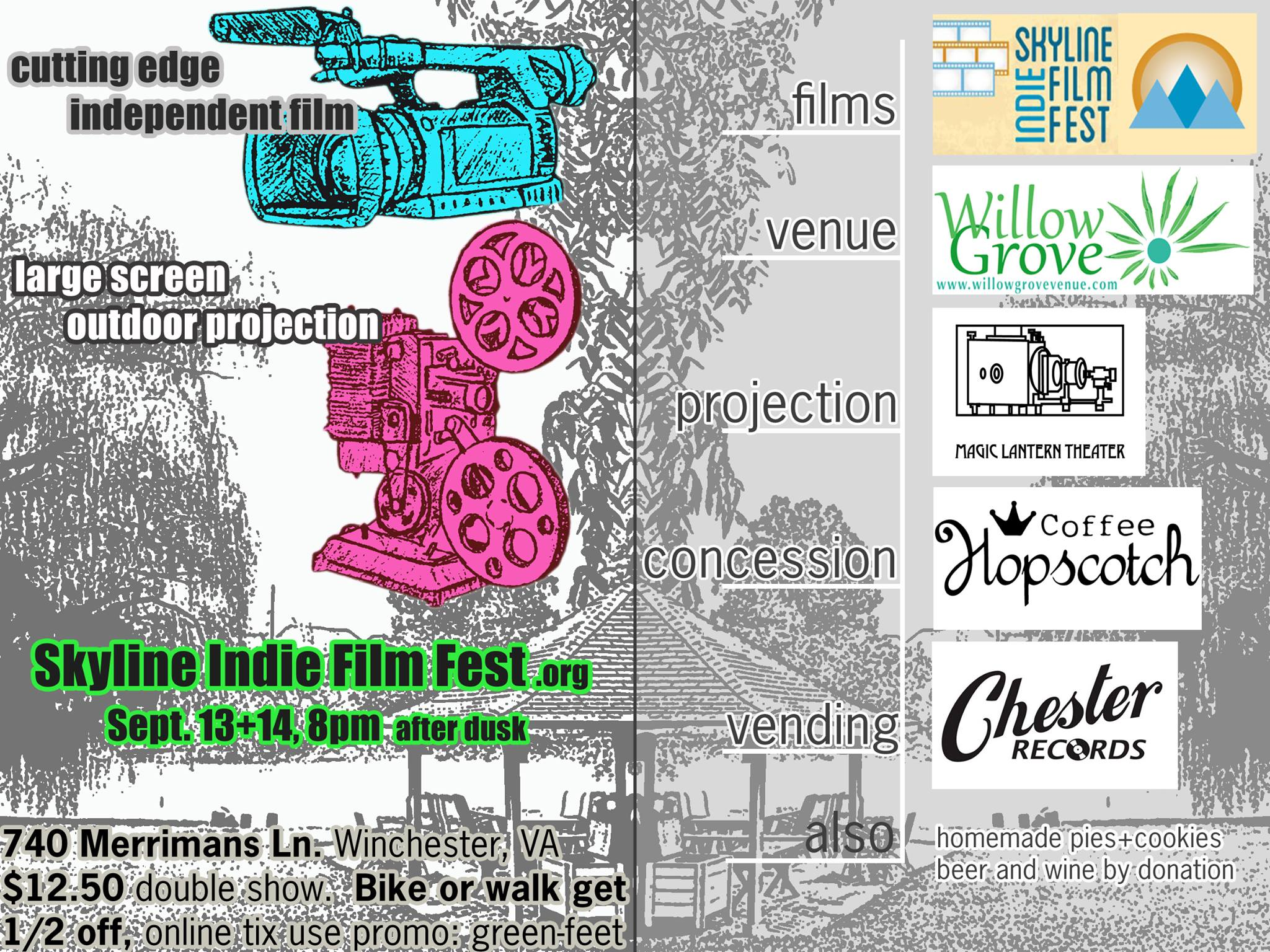 Skyline Indie Film Fest Willow Grove Farm Winchester VA flyer